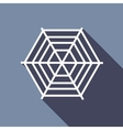 Spiderweb icon flat style vector image