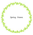 spring frame made up of leaves vector image vector image