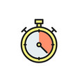 stopwatch flat color icon isolated on vector image