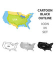 Territory of the united states icon in cartoon