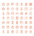 timer icons vector image vector image