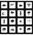 Weather icons set simple style
