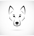 wolf muzzle on white background line art vector image vector image