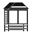 wood asian house icon simple style vector image