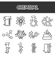 chemical concept icons vector image