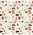 pirate stickers icons seamless pattern vector image