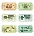 set of cinema tickets vector image