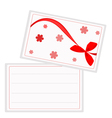 A White Gift Card with Red Ribbon vector image