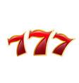 lucky seven casino poker jackpot icon vector image