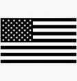 accurate correct black and white usa flag vector image vector image