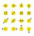 arrow line collection touch screen gestures icons vector image