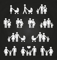 baby and parents outline icons design - white vector image vector image