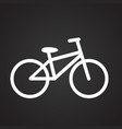bicycle on black background vector image