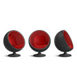 black and red ball chair designers egg armchair vector image