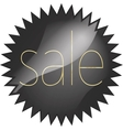 black glossy price vector image vector image