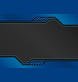 blue tech background with decorative lines vector image vector image