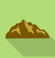 brown hills mountain icon flat style vector image