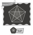 BW Count the triangles 1 vector image vector image