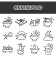 chinese food concept icons vector image vector image