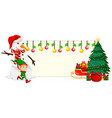 christmas festive banner concept vector image