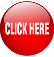 click here red round gel isolated push button vector image