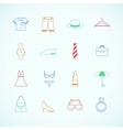 Clothes accessories pictograms vector image vector image