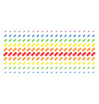 comb shape halftone spectral pattern vector image