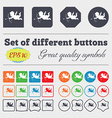 Cupid icon sign Big set of colorful diverse vector image vector image