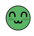 cute kawaii beautiful face smile and happy vector image vector image