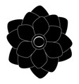 cute silhouette flower vector image vector image