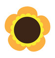 cute sunflower icon vector image