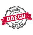 daegu round ribbon seal vector image vector image