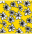 daisy hand drawn seamless color pattern vector image vector image
