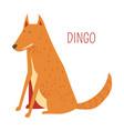 dingo dog cartoon australian animal vector image