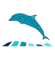 Dolphin sea animal silhouette vector image
