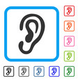 ear framed icon vector image