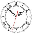 elegant clock face with roman numerals figured vector image vector image