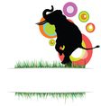 elephant in nature on a color vector image