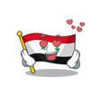 falling in love cute flag syria scroll cartoon vector image vector image