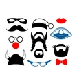 false mustache funny glasses and other items vector image