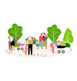 family walking in park vector image vector image