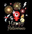 festive greeting card for halloween vector image vector image
