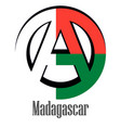 flag of madagascar of the world in the form of a vector image vector image