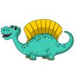 funny dinosaur cartoon vector image