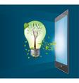 Green ecology bulb vector image vector image