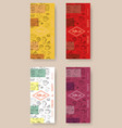 hand drawn with fast food restaurant menu vector image vector image