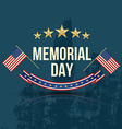 Happy Memorial Day with texture vector image