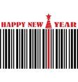 happy new year barcode flyer vector image vector image