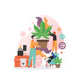 hemp consumption concept for web banner vector image