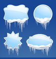 Icicle Frames Set vector image vector image